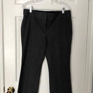 Loft Marisa bootcut gray slacks-12p